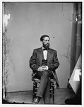 Image of John Mercer Langston seated.