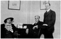 Rosika Schwimmer, Henry Ford, and Louis P. Lochner.