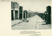 Street in Pompeii, from Anna B. McMahan, With Shelley in Italy (London: T. Fisher Unwin, 1907), 186.