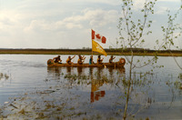 In 1967, these paddlers reenacted part of the 1793 Mackenzie Expedition, paddling from Ft. St. John, British Columbia, to Expo '67 in Montreal, Quebec.
