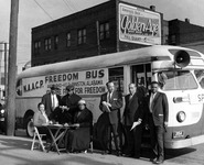 Unidentified NAACP Freedom Bus riders, photographed in 1961 by Opie Evans.