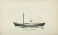 Nautilus canoe, as illustrated by Nathaniel Bishop in his Voyage of the Paper Canoe, published in 1878.