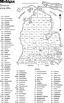 Part two of a two-page map shows Michigan's Lower Peninsula, with labels for the counties and major cities, circa 1860