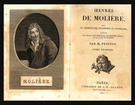 Frontispiece. This engraving is the frontispiece of an early nineteenth-century edition, Oeuvres de M. Molière (Paris: Allaut, 1821), derived from the Coypel portrait. It appears courtesy of Butler Library, Columbia University [843 M73 I122, v. 1].