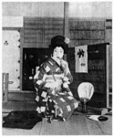 Kabuki onnagata. Hanayagi Shōtarō in the role of a young woman. From Engei Gahō (1942:n.p.).