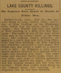 Article from the Memphis Commercial Appeal, July 23, 1907, p. 3. Courtesy of the Memphis and Shelby County Room, Memphis Public Library and Information Center.