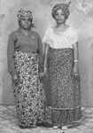 Fig. 5: Photograph of Two women in African outfits (wrappers and head ties) in Buea, 1970, by Walter Gam Nkwi.