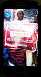 Smart phone image of Kano-based trader showing blanket to be ordered in China.