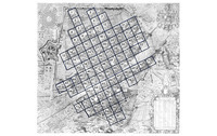 Sixteenth-century Florence: Grid map of numbered squares.
