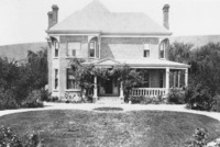 Home of A. W. Ivens, c. 1910. The veranda and neat lawns were typical of affluent American residences in western Chihuahua.