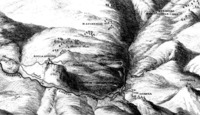 13 J. P. Hackert, relief map of the Licenza valley.