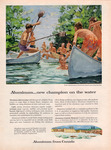 A color advertisement for Aluminum Limited featuring several children playing in aluminum canoes.