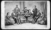 A black-and-white group photo of the Fisk Jubilee Singers.
