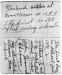 Two pages of one of Henry Ford's diaries, which contain his recollections as to early school days and watch-repairing