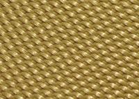 A close-up image of Kevlar fibers woven together.