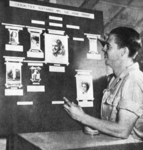 "Army Air Force engineers in New Guinea tracked romantic defections on this ""operations board."""