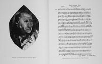 Fig. 2. Portraits of Gertrude Stein by Christian Bérard and Virgil Thomson included in the program for the 1934 premiere of Four Saints in Three Acts at the Wadsworth Antheneum, Hartford, Connecticut. (Gertrude Stein and Alice B. Toklas Papers, American Literature Collection, Beinecke Rare Book and Manuscript Library, Yale University.)