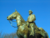 Statue of Nathan Bedford Forrest, Forrest Park, Memphis, Tennessee. Photo by author.