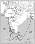Map 9: Ibn Battuta's Itinerary in India, Ceylon, and the Maldive Islands, 1333-45