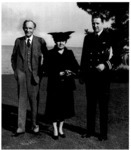 Henry Ford, his wife Clara, and Henry Ford II