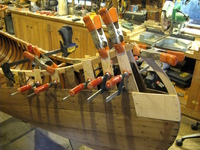 The tangled business of restoring a rotted canoe stem.