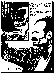Figure 3. A poster in black, white, and bright red commemorates Albizu Campos as well as two uprisings El Grito de Jayuya (the Jayuya Revolt) in Puerto Rico and the 1954 attack on the House of Representatives.The poster includes three superimposed peripheral images of Albizu Campos gradually decreasing in size. Martorell also imprints on Campos's right arm two historical revolts led by women from the Puerto Rican Nationalist Party: El Grito de Jayuya (the Jayuya Revolt) in Puerto Rico and the 1954 attack on the House of Representative on Campos's right arm.