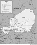 Map of Niger showing smuggling routes into northern Nigeria.