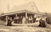 A Gerrish canoe at McTrickey Cottage on Madawaska Lake, Aroostook County, Maine, ca. 1915.