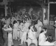Wacs and GIs at a dance sponsored by the 43rd Infantry Division in the Philippines.""