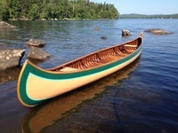 This 17-foot B. N. Morris canoe was originally built ca. 1912 and has been carefully restored by Rollin Thurlow of the Northwoods Canoe Company in Atkinson, Maine.