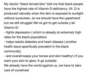 User posting about Black health issues