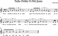 "Fig. 4. Musical transcription of ""Tujhe Dekha To Yeh Jaana"