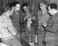 "A panel of GI judges selected Cpl. Ruby Newell as the ""the prettiest Wac in the United Kingdom."""""