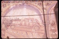 Automobiles were popular subjects of haveli paintings.