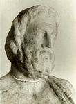 Head of Asklepios on a statuette from Epidaurus.