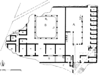 Plan: T. Liddell, after P. H. von Blanckenhagen and C. Alexander, The Augustan Villa (Mainz am Rhein: Phillip von Zabern, 1990), fig 1.