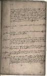 Page from the Putney debates record book, 1647, located at Worcester College, Oxford, MS 65 ff.34v-35r, showing the handwritten record of the conversation. Worcester College, Oxford.