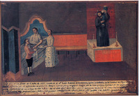 Source: Ex-voto, anonymous, 1799. Collection of Roberto Rochín Naya, Mexico City, Mexico. Photograph by Roberto Rochín Naya.