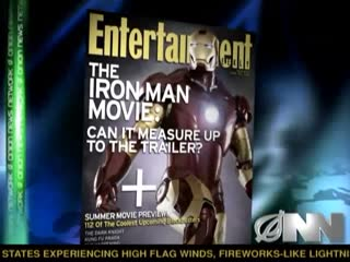 A satirical video from Onion News Network between newsroom anchor Michael Bannon and reporter Rorey Covey, discussing the 'controversy' around Paramount Pictures' plan to adapt the beloved Iron Man trailer into a full, feature-length motion picture.