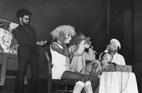 Fig. 5. Unidentified cast members perform a scene from Home on the Range by Amiri Baraka in 1968. (Photo by Fred W. McDarrah, Premium Archive, Getty Images.)