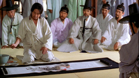 Photograph of Im Kwon-taek, Chihwaseon (Ch'wihwasŏn, 2002) / Chang Sŭng-ŏp painting for his aristocratic patrons.