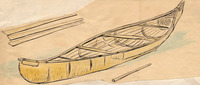 Sheathing and ribs are added to give the canoe its final shape.