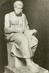 Hekler's reconstruction of the seated portrait of Plato.