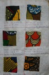 Cotton textile sample swatch printed in Kaduna.
