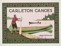 Illustrated cover of Carleton Canoe catalog.