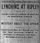 Headline, Memphis Commercial Appeal, March 24, 1900, p. 2.