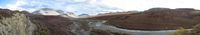 Panoramic view of the Salmon River headwaters in the Kobuk Valley National Park in Alaska.