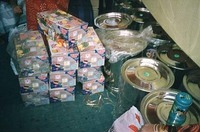 The dowry gifts are provided by the organization.