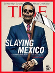 Fig. 7. An image parodying the cover of Time magazine shows Mexican president Enrique Peña Nieto as the figure of death.
