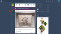 This image shows the Tumblr Dashboard.
